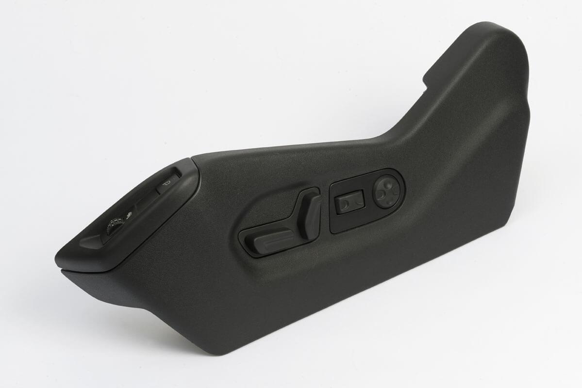 Injection pièce plastique d'aspect siège avant automobile