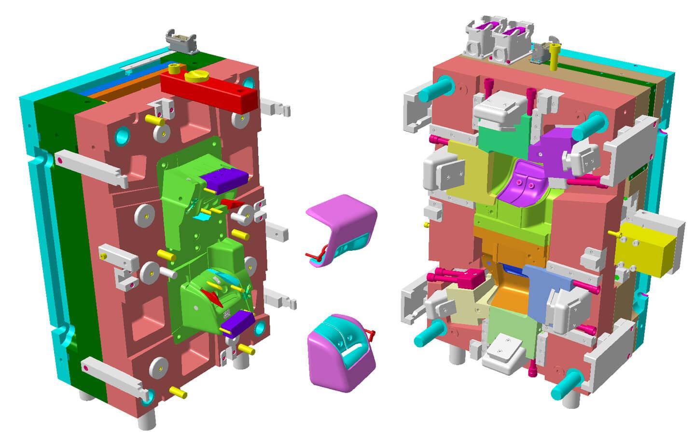 Industrialisation moule plan 3D plastique